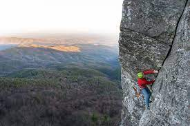 rock climb white lightning linville gorge