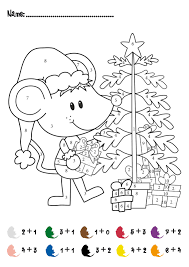 Small Picture CHRISTMAS Color by Numbers Printables Christmas Addition Math