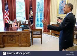 obama oval office desk. Obama Oval Office Desk President Barack Stock Photo Us Jokes With Mattina Falco 19 Year