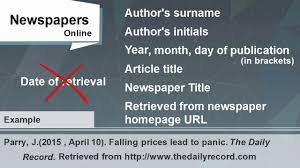 How To Reference A Newspaper Or Magazine Article In Apa