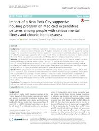 Medicaid Eligibility Income Chart Nyc Pdf Impact Of A New York City Supportive Housing Program On
