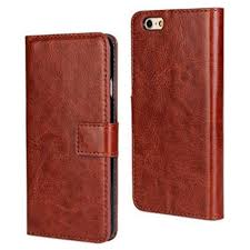 amzer flip leather wallet case with lanyard ten brown