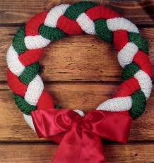 Christmas Braided Crocheted Wreath link to free pattern