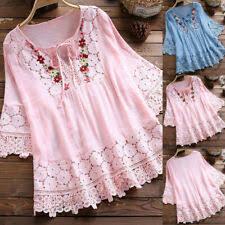 <b>Linen Floral Plus Size</b> Tops for Women for sale | eBay