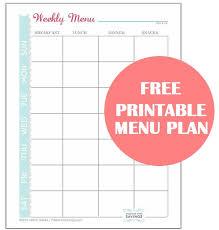 Free Printable Menu Plan Worksheet Passion For Savings