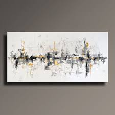 72 large original abstract painting on canvas contemporary abstract modern art white gray gold black