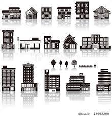 建物アイコン シルエットのイラスト素材 18662260 Pixta