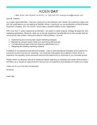 best marketer cover letter examples livecareer