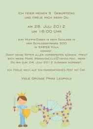Einladung Kindergeburtstag Text Design