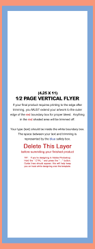 design templates 4 25x11 flyer vertical