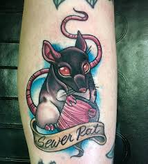 My New Lil Sewer Rat By Jessica Canvas At Good Times Tattoo Mn