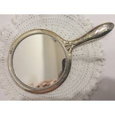 Ornate hand mirror Fancy Hand Vintage Retro Heavy Silver Plated Ornate Ribbon Hand Mirror 15 On Ebid United States 171648719 Ebid Vintage Retro Heavy Silver Plated Ornate Ribbon Hand Mirror