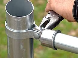 chain link fence post.  Chain Attach Rail Cups To Posts And Add Dome Cap In Chain Link Fence Post