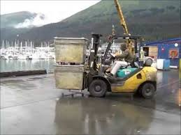 not very good forklift skills   youtube