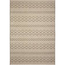 allen roth ottolin sand indoor outdoor coastal area rug common 8 x