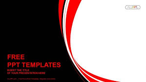 Red Ppt Abstract Red And Black Wavy Background Powerpoint Template