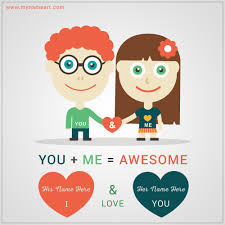 You And Me Love Pic With Name Edit Wishes Greeting Card Awesome Love Pics With Name Edit