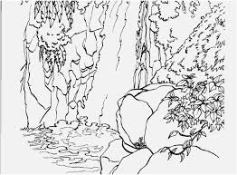 Coloring Page Waterfall At Getdrawingscom Free For Personal Use