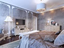 Slaapkamer Met Donker Behang Stockfoto Kuprin33 87650442