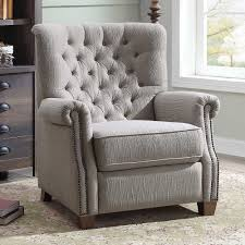 better homes and gardens recliner. better homes and garden tufted push back recliner chair living room seat grey gardens