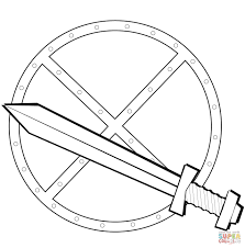 Sword And Shield Coloring Page Free Printable Coloring Pages