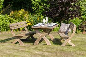 garden dining table with benches. harriet\u0027 table \u0026 2 bench dining set - garden furniture land harriet set. \u0027 with benches t
