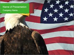 Eagle Over American Flag Powerpoint Template Infographics Slides