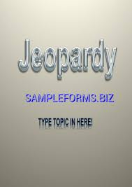 Jeopardy Powerpoint Template & Samples Forms