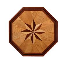 wood floor inlays. PID Floors 3/4 In. Thick X 24 Wide Octagon Medallion Unfinished Wood Floor Inlays O