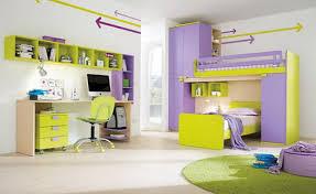 Chic Purple And Yellow Color Scheme In Teen Girls Bedroom