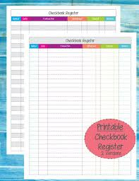 Printable Check Register For Checkbook Printable Check Register Front And Back Download Them Or Print