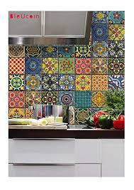 Backsplash Bathroom Ideas Interesting Bleucoin Mexican Talavera Tile Sticker For Kitchen And Bathroom