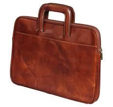 slim leather doent briefcase i medici
