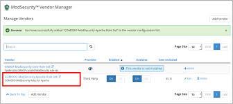 Deploy Comodo ModSecurity Rule Set in cPanel, Comodo Web Application ...