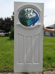 1 peacock glass design 1930 s oval glass door with traditional stained glass
