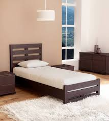 single bed. Perfect Bed Venus Single Bed With High Headboard In Brown Colour By Mintwud For E