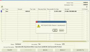Invoice Type Adjusting Purchase Order Matched Invoices Oracleug