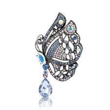 Elegant Females Crystal Rhinestones Glass <b>Style Single Wing</b> ...
