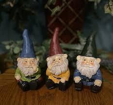 garden gnome elf metal garden stakes