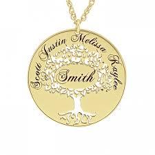 cutout family tree pendant 26 mm personalized jewelry