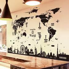 world map wall stickers diy england