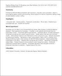 Cover Letter For Ob Gyn Position 1 Ob Gyn Medical Assistant Resume