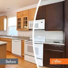 kitchen cabinet refinishing vs
