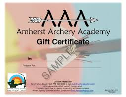 Guitar Lesson Gift Certificate Template Gift Certificate Templates Unique Archery Certificate Template