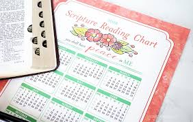 2017 Scripture Reading Chart The Crafting Chicks