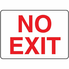 no exit my bad side no exit ldquo