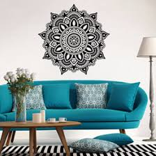 creative wall stickers mandala flower indian bedroom wall paper decal art design stickers mural vinyl family home decoration on mandala wall art nz with mandala wall sticker nz buy new mandala wall sticker online from