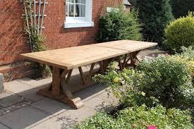 hockney extra large 4m reclaimed teak rectangular garden dining table
