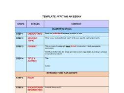 essay template step by step guide for basic essay writing by worksheet