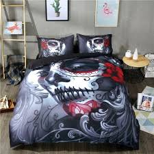 gallery of sugar skull bedding set au single uk double twin full queen king clean wondeful 2